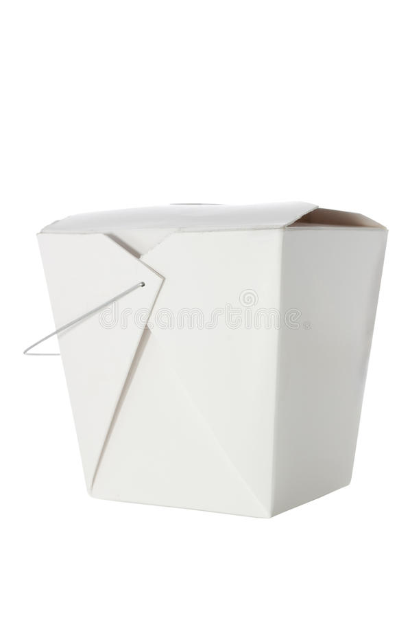 Elimini il contenitore su bianco con il percorso di residuo della potatura meccanica fotografia stock libera da diritti