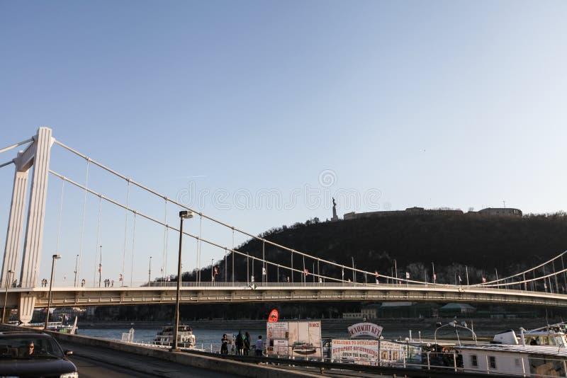 Elisabeth桥梁(布达佩斯) 免版税库存照片