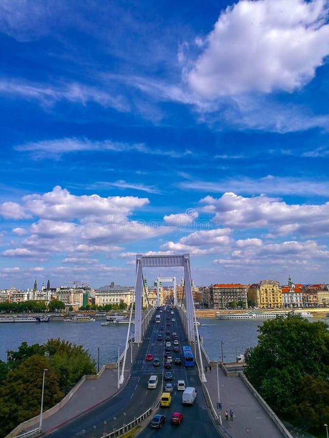 elisabeth Венгрия budapest моста стоковое изображение