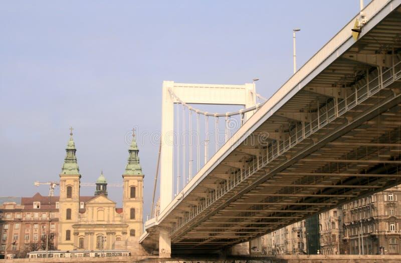 Elisabeth Bridge. Budapest stock photo