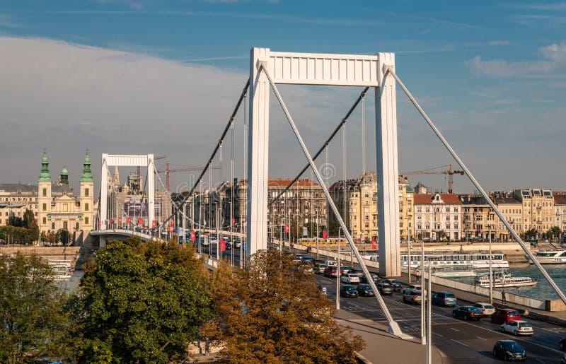 elisabeth budapest моста стоковое фото