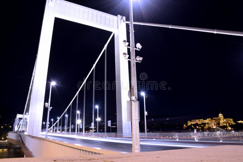 elisabeth budapest моста стоковое фото rf