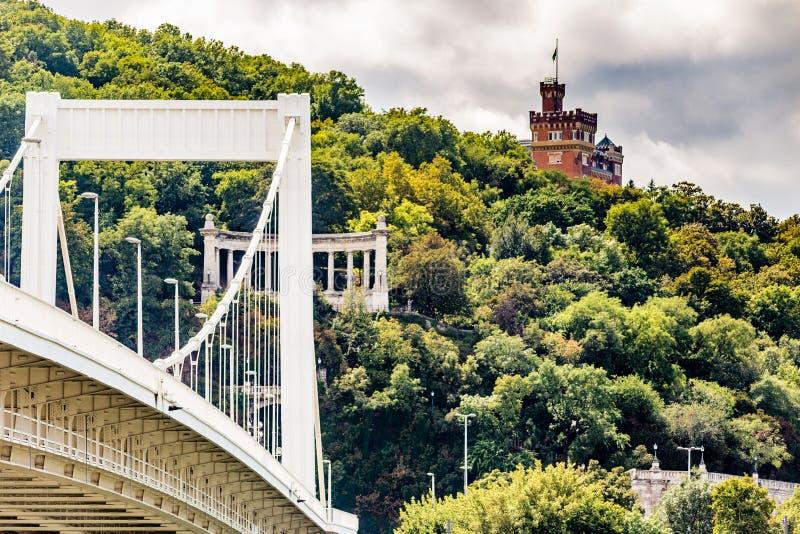 Elisabeth budynki i most zdjęcia stock