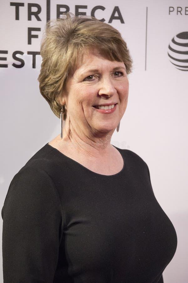 Elisabeth Bumiller przy Końcową nocą przy 2018 Tribeca Ekranowym festiwalem zdjęcie royalty free