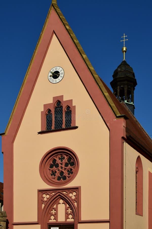 Elisabeth kościół w Bamberg, Niemcy (SANDKIRCHE) fotografia royalty free