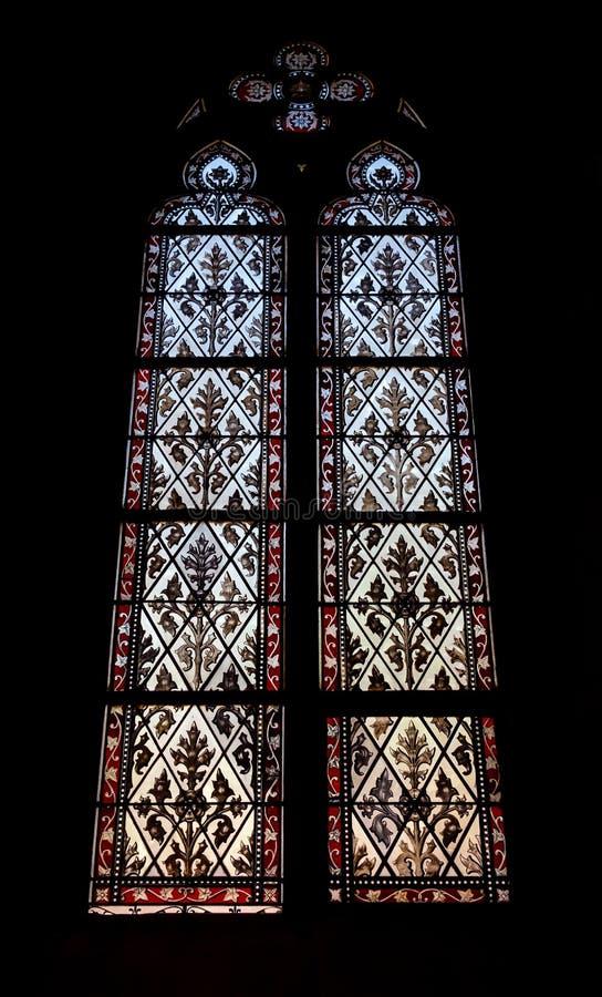 Elisabeth kościół w Basel, wewnętrzny widok, majestatyczna architektura obraz stock