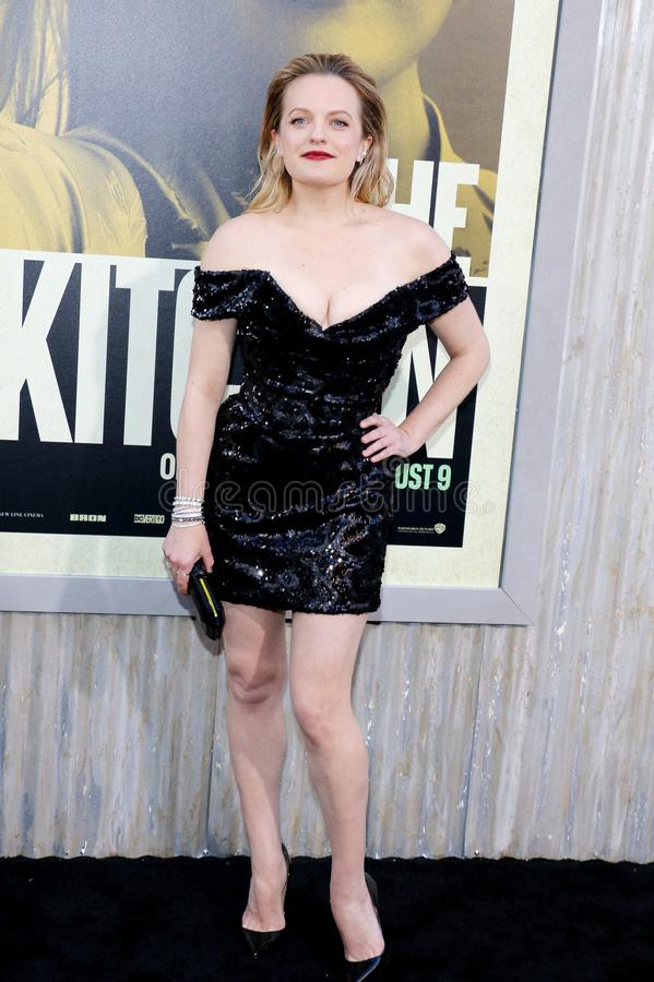 Elisabeth Moss. At the Los Angeles premiere of `The Kitchen` held at the TCL Chinese Theatre IMAX in Hollywood, USA on August 5, 2019 royalty free stock photography