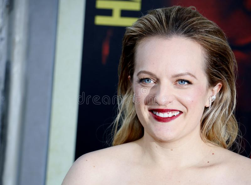 Elisabeth Moss. At the Los Angeles premiere of `The Kitchen` held at the TCL Chinese Theatre IMAX in Hollywood, USA on August 5, 2019 royalty free stock photos