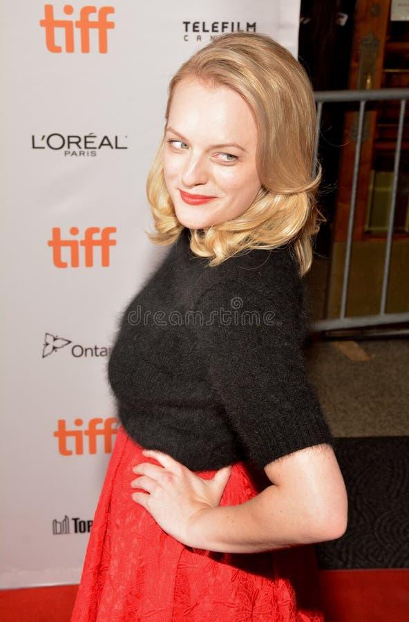 Elisabeth Moss nimmt an ` die quadratische ` Premiere in Toronto, tiff 2017 teil lizenzfreie stockbilder