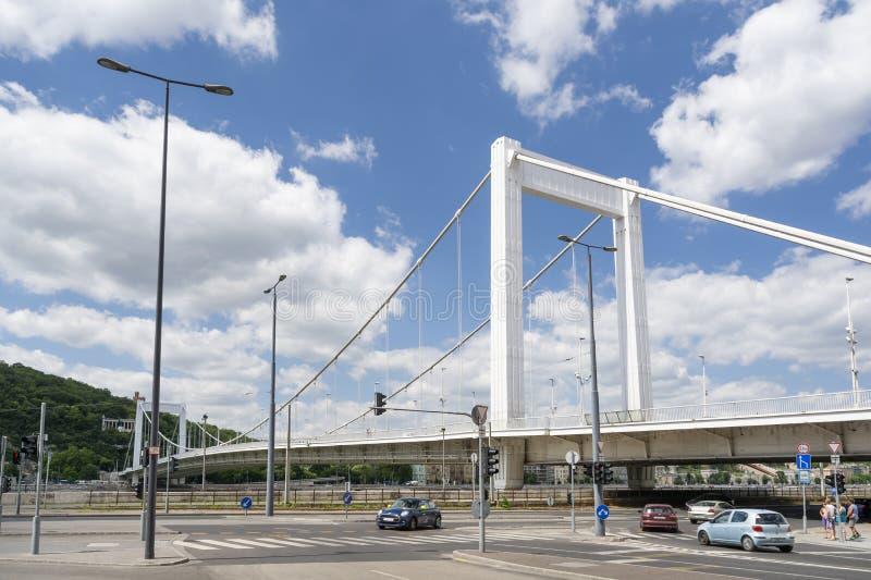 Elisabeth most Erzsebet Chujący, Budapest, Węgry obrazy stock