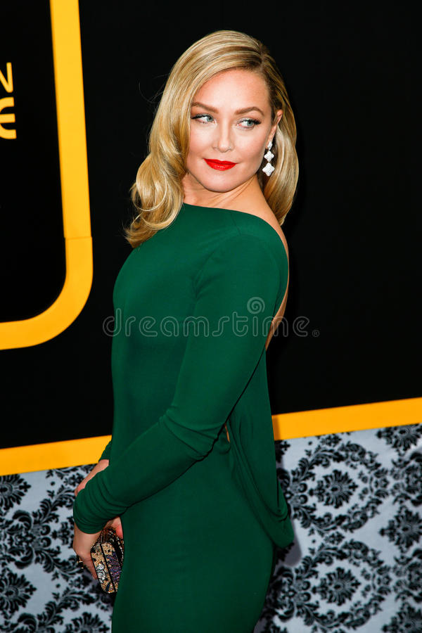 Elisabeth Rohm. NEW YORK-DEC 8: Actress Elisabeth Rohm attends the American Hustle premiere at the Ziegfeld Theatre on December 8, 2013 in New York City stock images
