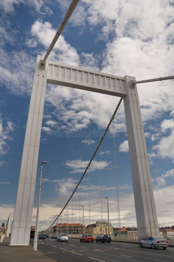 elisabeth s budapest моста стоковое фото rf