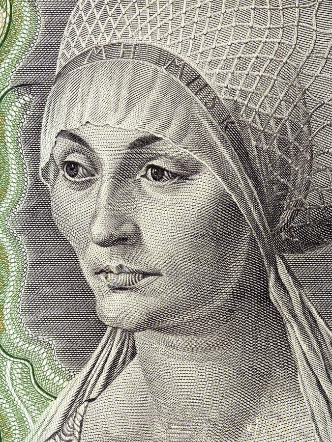 Elisabeth Tucher portret obraz stock