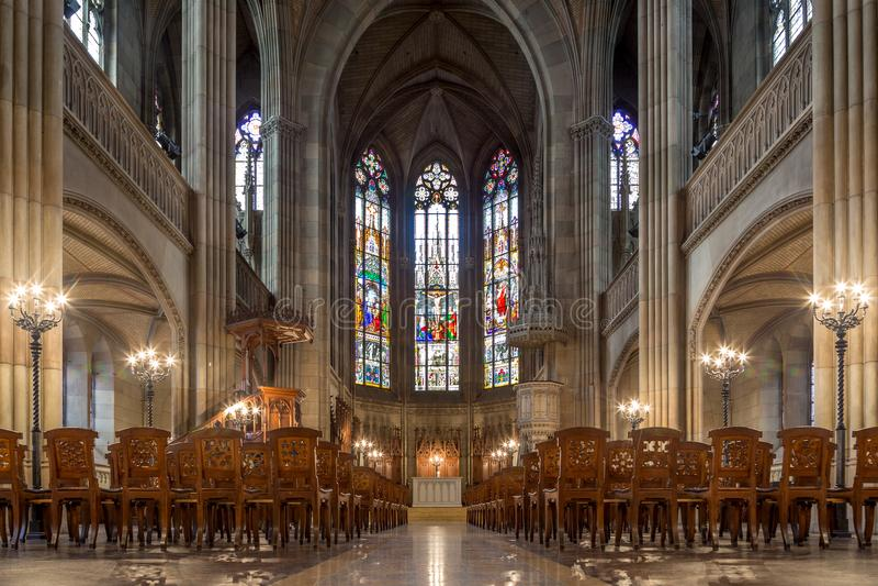 Elisabethenkirche em Basileia, Suíça imagem de stock royalty free