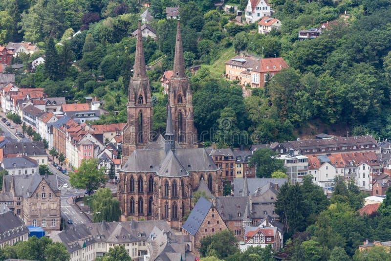 Elisabethenkirche gótico de Marburg foto de stock royalty free