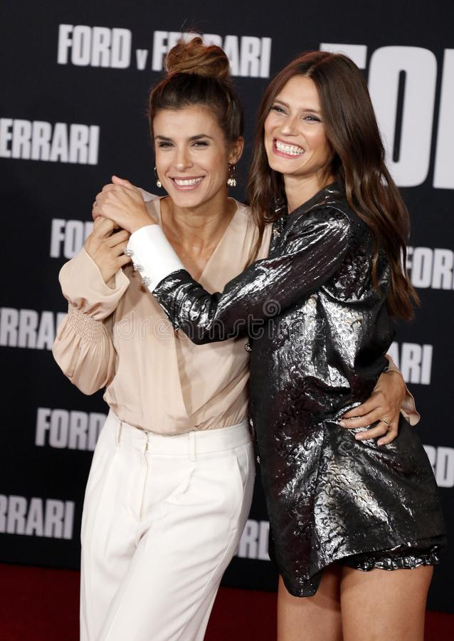Elisabetta Canalis and Bianca Balti royalty free stock images