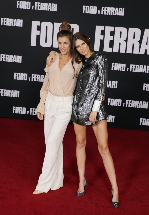 Elisabetta Canalis and Bianca Balti stock images