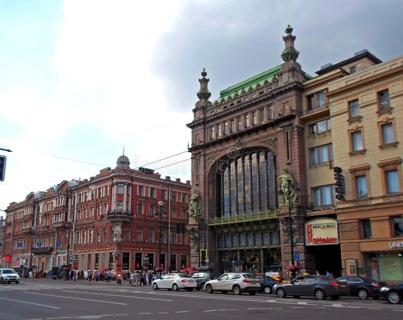 Eliseyev Emporium på den Nevsky utsikten arkivbilder