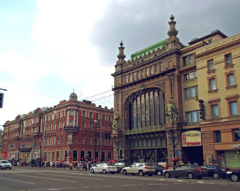 Eliseyev Emporium på den Nevsky utsikten arkivfoton
