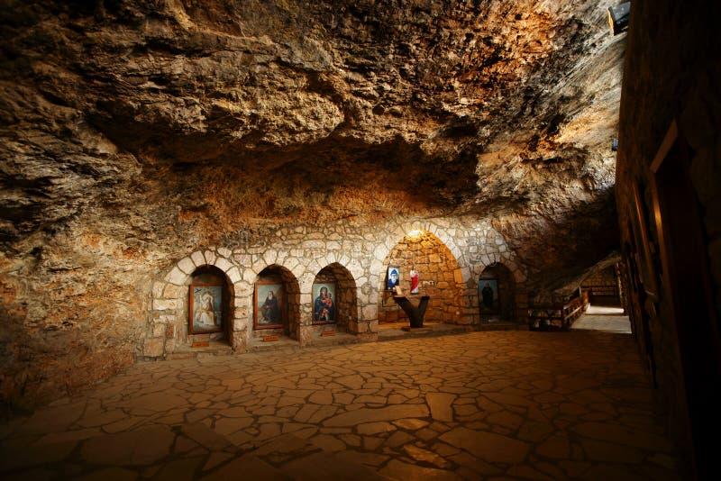 elishaa内部修道院圣徒 库存图片