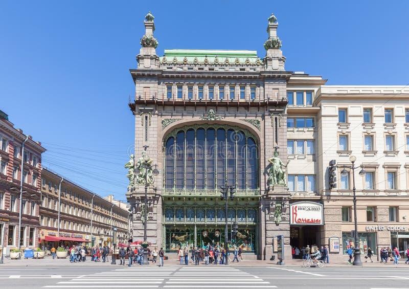 Elisseeff Emporium på den Nevsky utsikten i St Petersburg royaltyfri bild