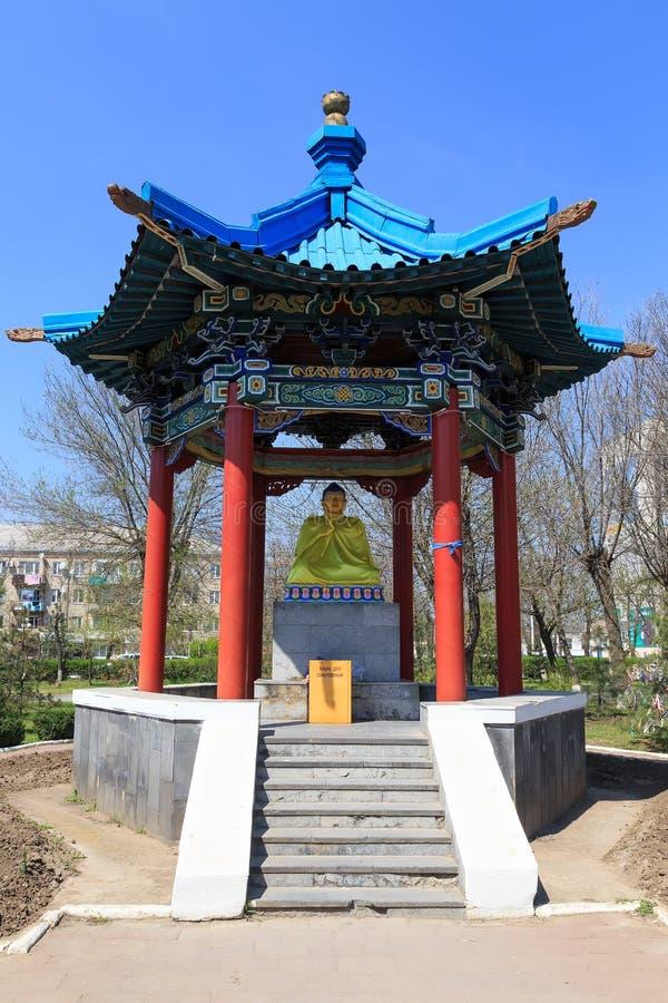 Elista Domicilio de oro de Buda Shakyamuni fotografía de archivo