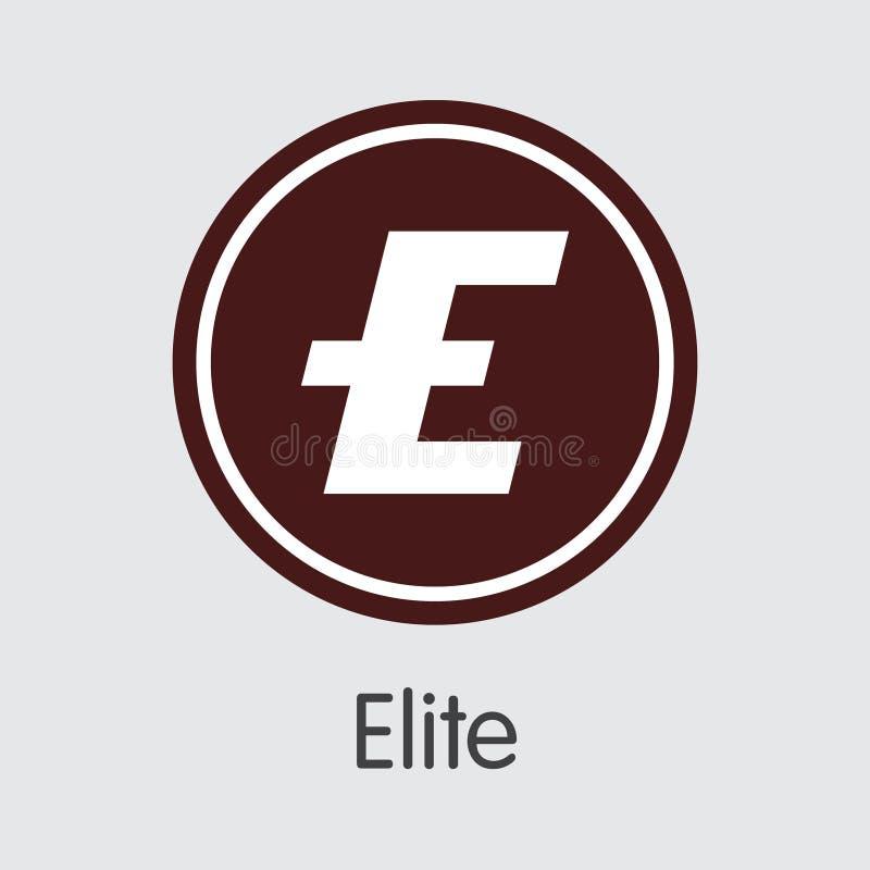 Elit - Crypto symbol för valutatecken stock illustrationer