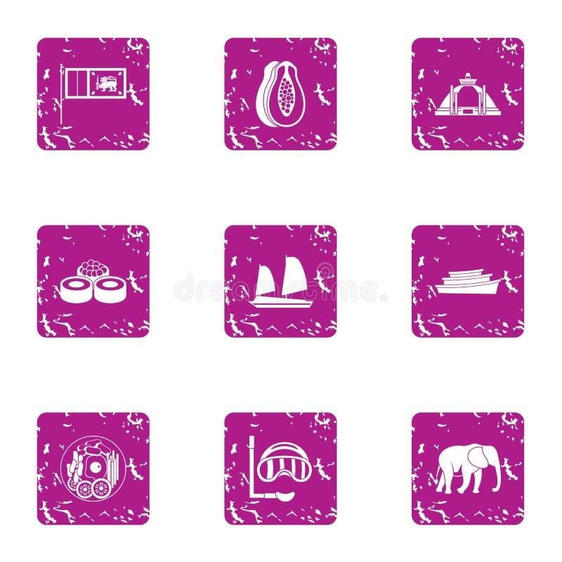 Elit vilar symbolsuppsättningen, grungestil stock illustrationer