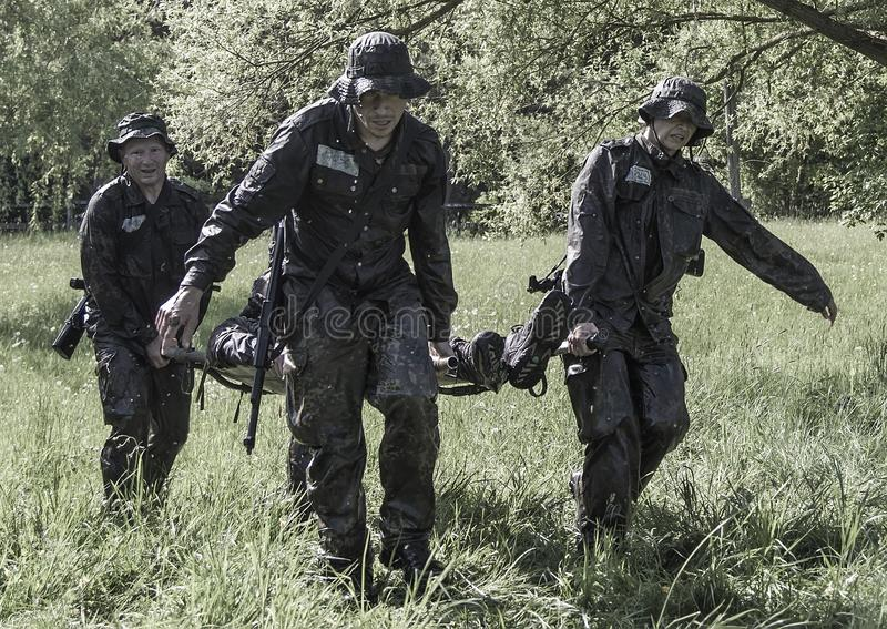 Elita wyzwania militarny traning program obrazy royalty free