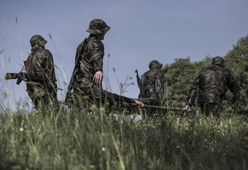 Elita wyzwania militarny traning program zdjęcia royalty free