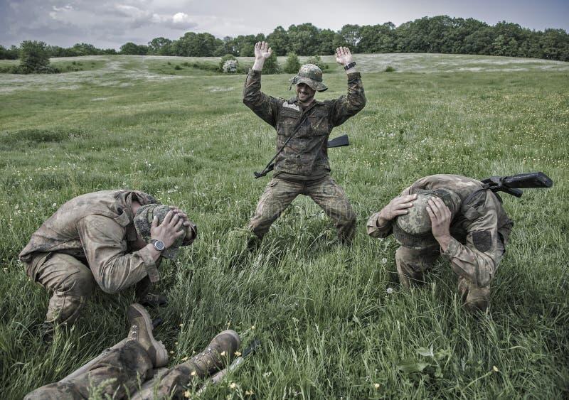 Elita wyzwania militarny traning program zdjęcia stock