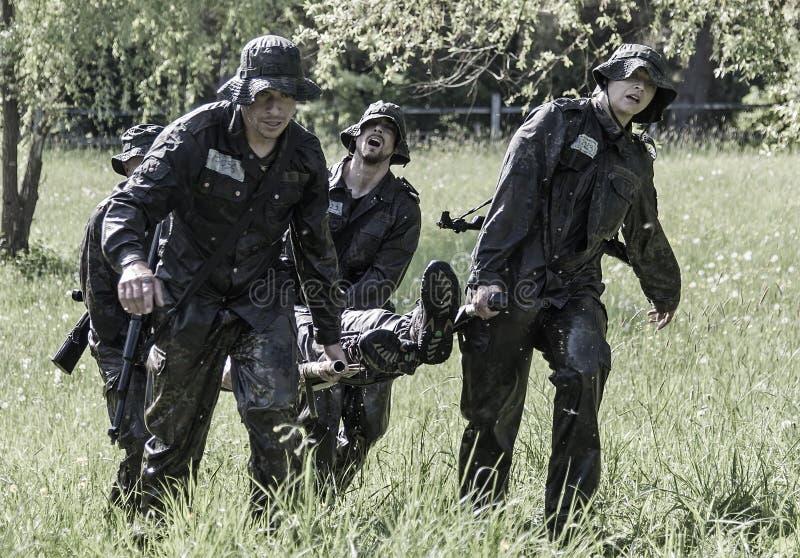 Elita wyzwania militarny traning program zdjęcie stock