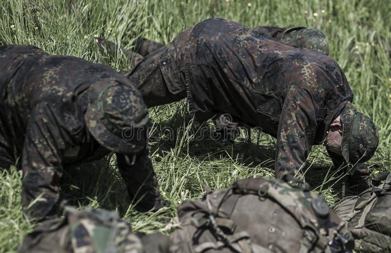 Elita wyzwania militarny traning program fotografia stock