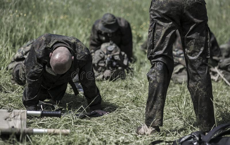 Elita wyzwania militarny traning program obraz stock