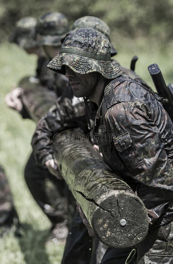 Elita wyzwania militarny traning program obraz royalty free