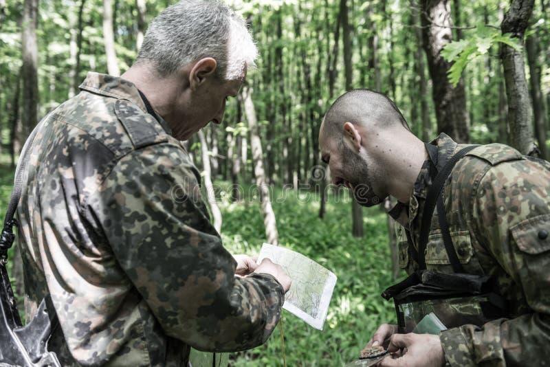 Elita wyzwanie - szkolenie wojskowe, rywalizacja cywile zdjęcia stock