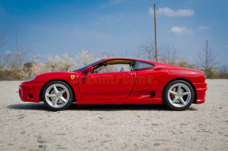 Elite di HotWheels di 1:18 di Ferrari 360 Modena fotografia stock libera da diritti
