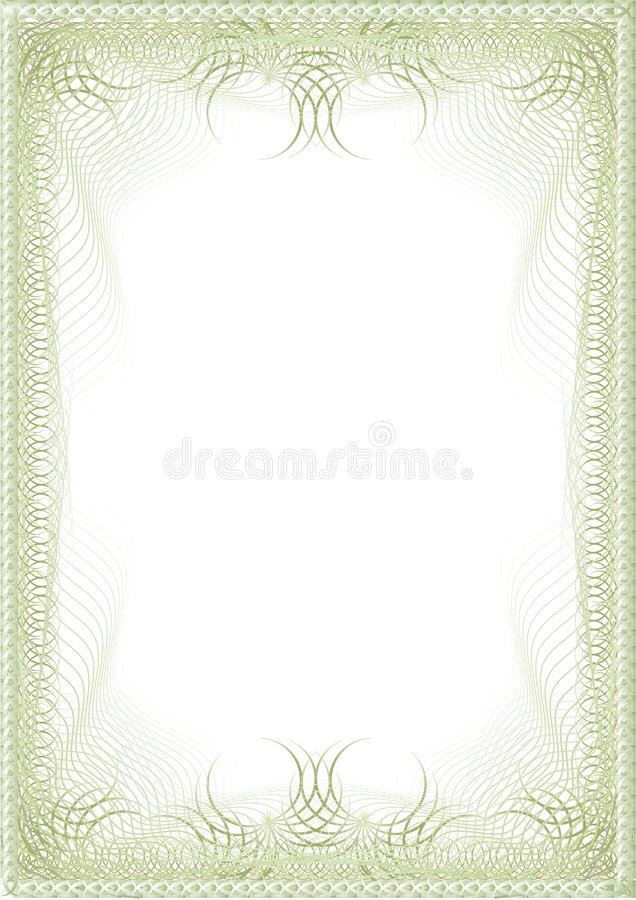 The elite green blank royalty free illustration