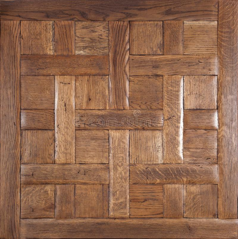 Elite modular parquet. Natural wooden flooring with luxury texture and pattern. Top view stock images