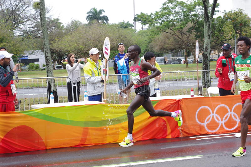 Eliud Kipchoge et Feyisa Lilesa photos libres de droits