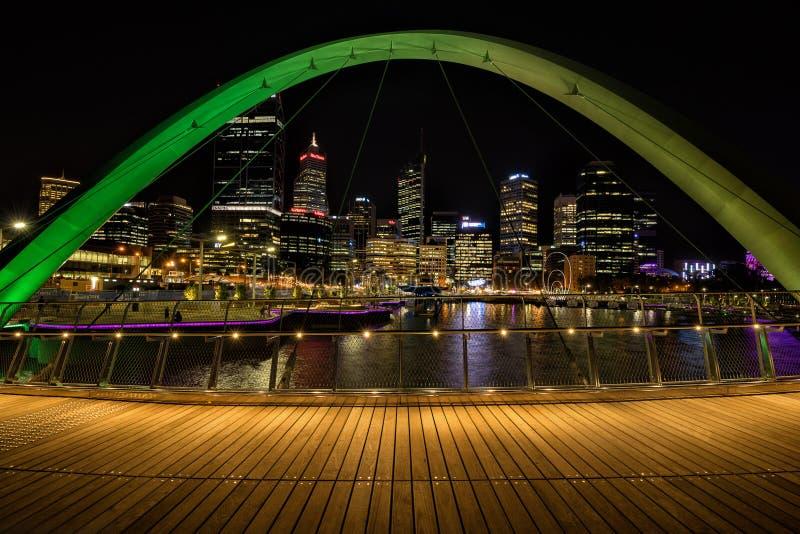 Elixabeth Quay in Perth WA stock image