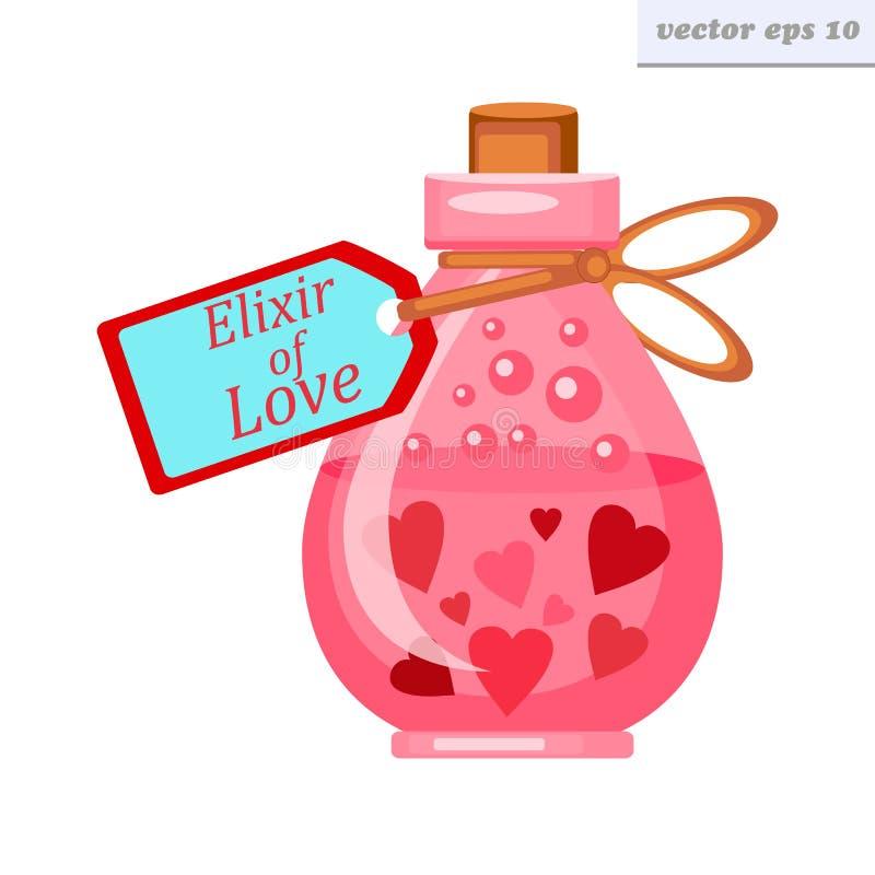 Elixir do amor ilustração do vetor