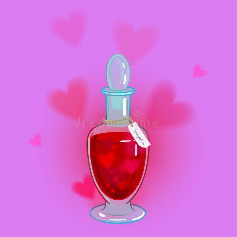 Elixir do amor ilustração stock