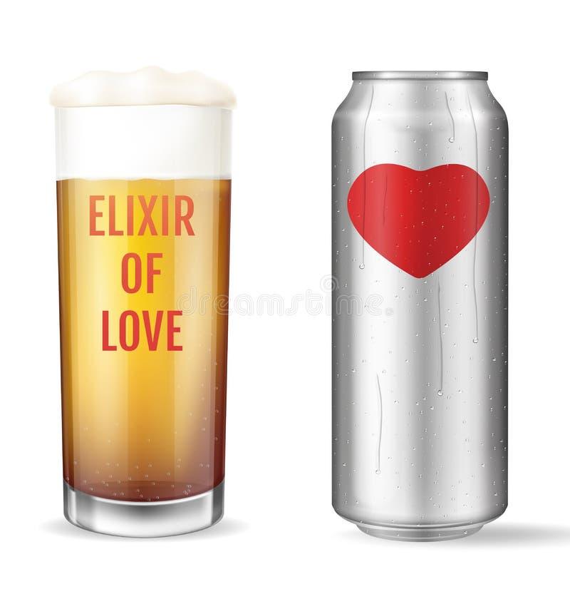 Elixir do amor Conceito moderno Poção de amor ilustração do vetor