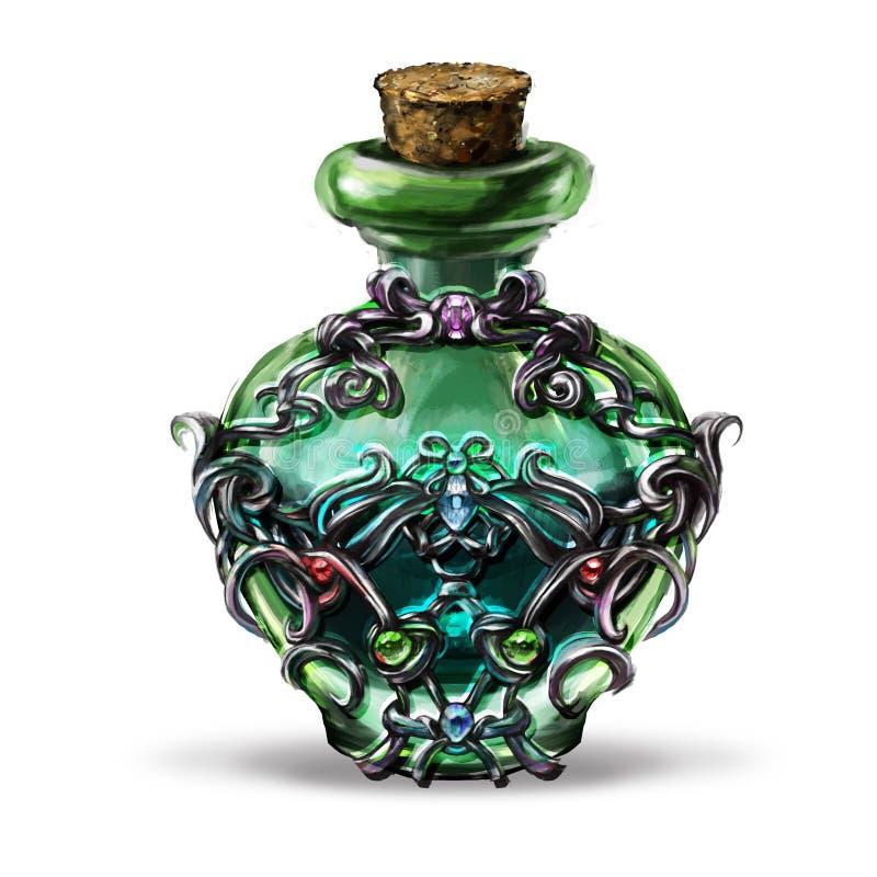 elixir of fantasy games for a bottle stock photos