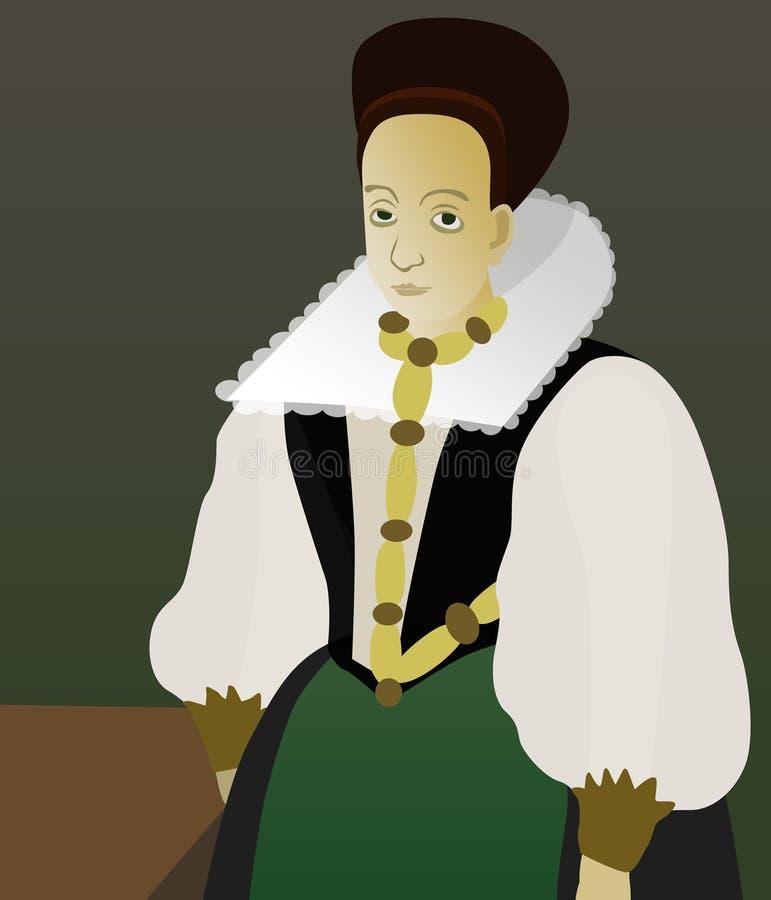 Elizabeth Bathory stock illustration