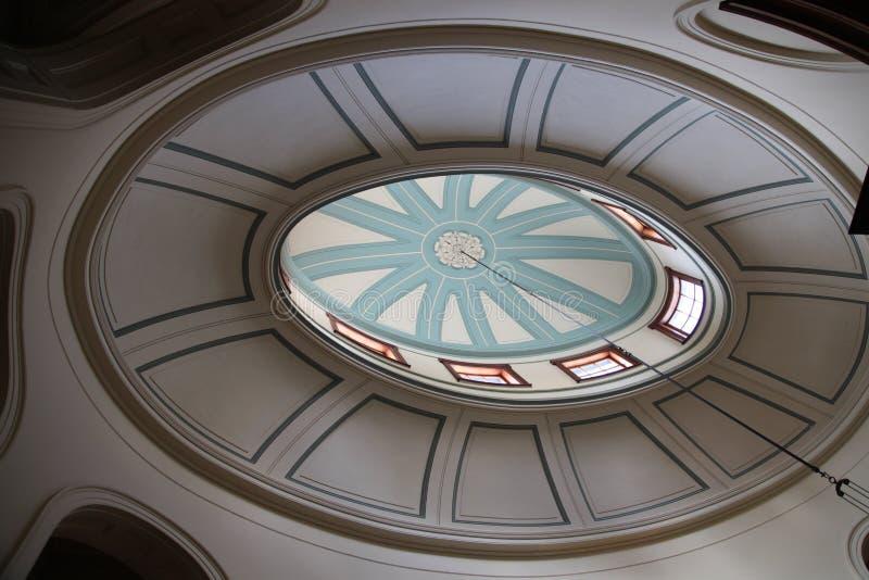 Elizabeth Bay House - zentraler elliptischer Saal mit gewölbter Laterne stockbild
