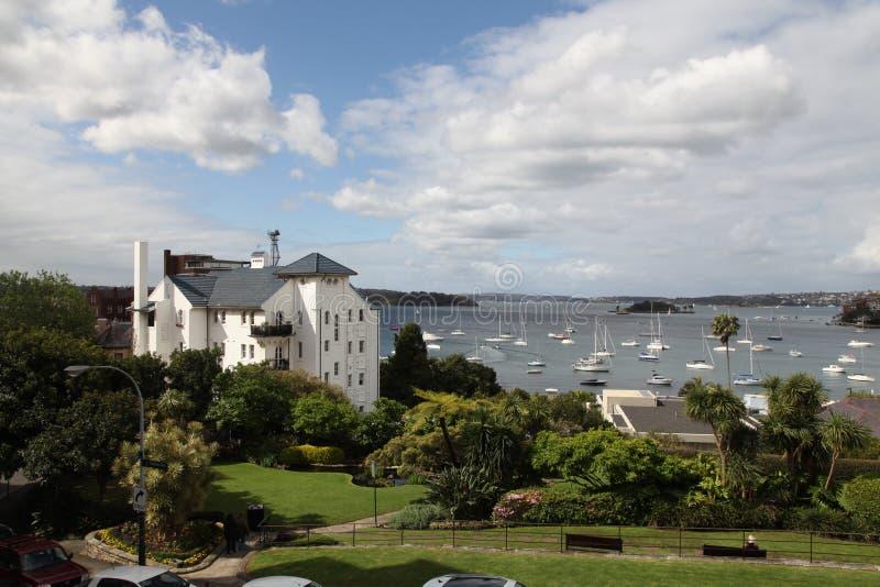 Elizabeth Bay - vista de Elizabeth Bay House fotos de stock royalty free