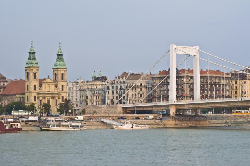 Elizabeth-Brücke lizenzfreie stockbilder