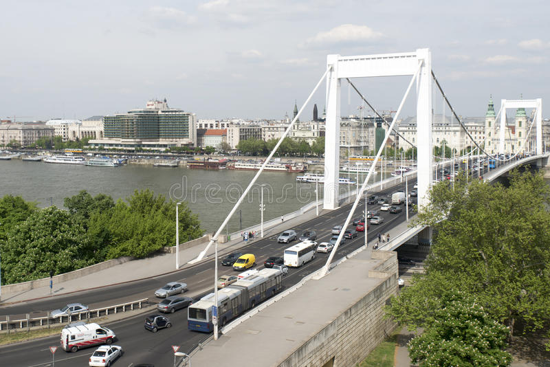 Elizabeth bridge, Budapest royalty free stock image